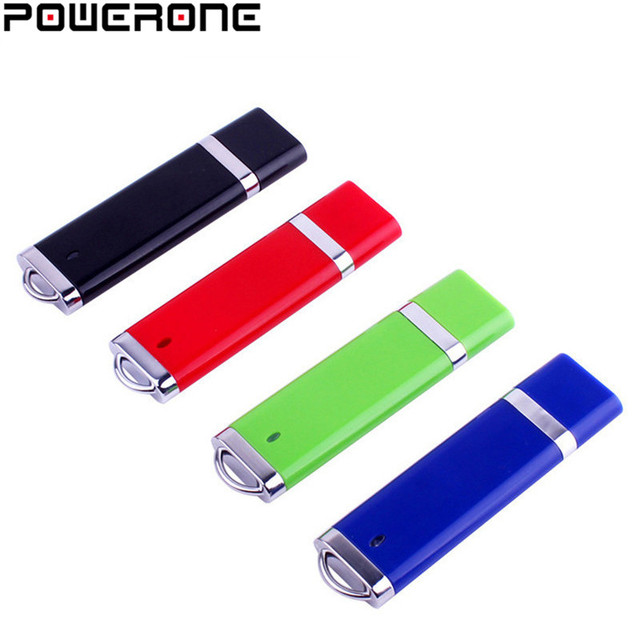 POWERONE nhựa Bật lửa hình đèn LED cổng USB mini Pendrive 4 GB 8 GB 16 GB 32 GB 64 GB dính USB 2.0 ngón tay cái bút