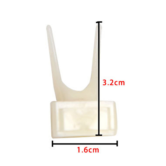3.2*1.6cm Plastic Bird Feeders Fruit Food Fork Install Cage Accessories 3