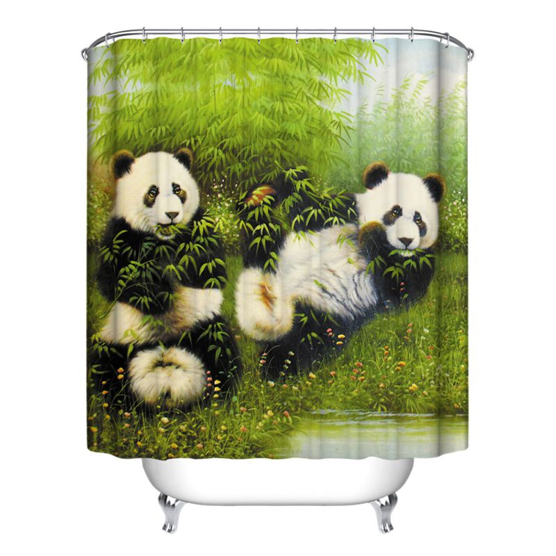 New decor collection row of hungry dogs cat dog wolf panda for Panda bear decor