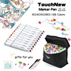 TOUCHNEW 30 40 60 80 168 Color Graphic Marker Pens Set Sketch Manga Art Markers Alcohol