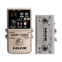 NUX Loop Core Deluxe Looper Pedal 40 Different Drum Rhythms 8 Hours Record Loop Guitar Effect