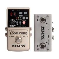 NUX Loop Core Deluxe Looper Pedal 40 Different Drum Rhythms 8 Hours Record Loop Guitar Effect