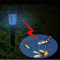 UV Solar LED Lawn Light Mosquito Killer Lamp Mosquito Insect Pest Bug Zapper Killer Trapping Lantern