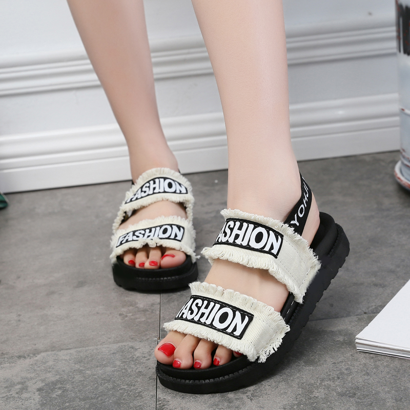 Women 39 s sandals summer flat Rome women 39 s shoes new platform sports students comfortable and casual wild sandals wedge sandals in Middle Heels from Shoes