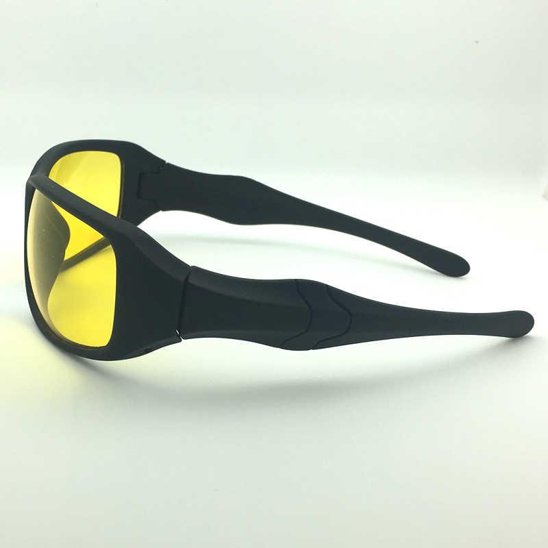 الأزياء للرؤية الليلية نظارات لمصباح الاستقطاب القيادة النظارات الشمسية عدسات صفراء اللون UV400 حماية ليلة نظارات للسائق