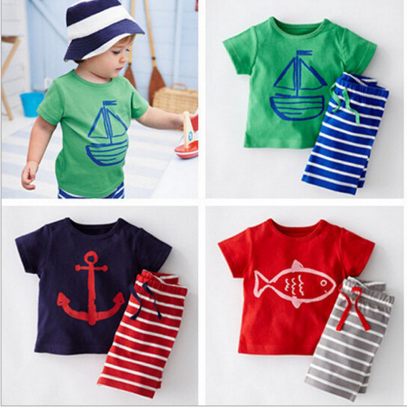 Boys clothing set children sport suits children's clothing sets for kids cotton clothes set boy T-shirt+ short pant