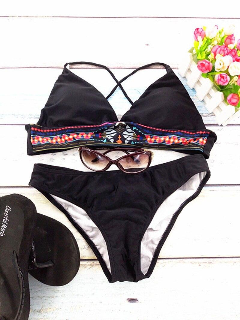 HTB114 ONVXXXXXlXFXXq6xXFXXXS - New push up bikinis set 2018 female two-pieces swimsuit flower ruffles tops bikini halter bathing suit scrunch bottoms swimwear