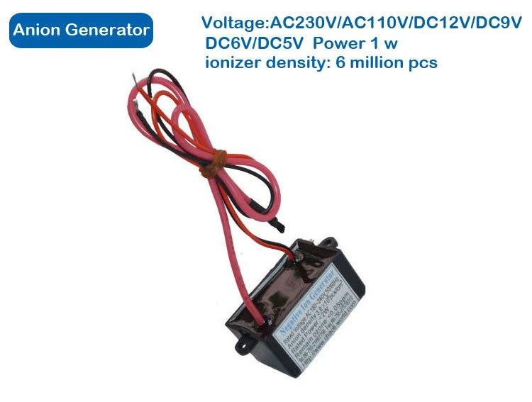 Air Purifier Parts, Home Negative Ionizer Generator,Output Voltrage -5.0kv Dc Ionizer Density 6 Million/pcs,ozone Output 0.02ppm