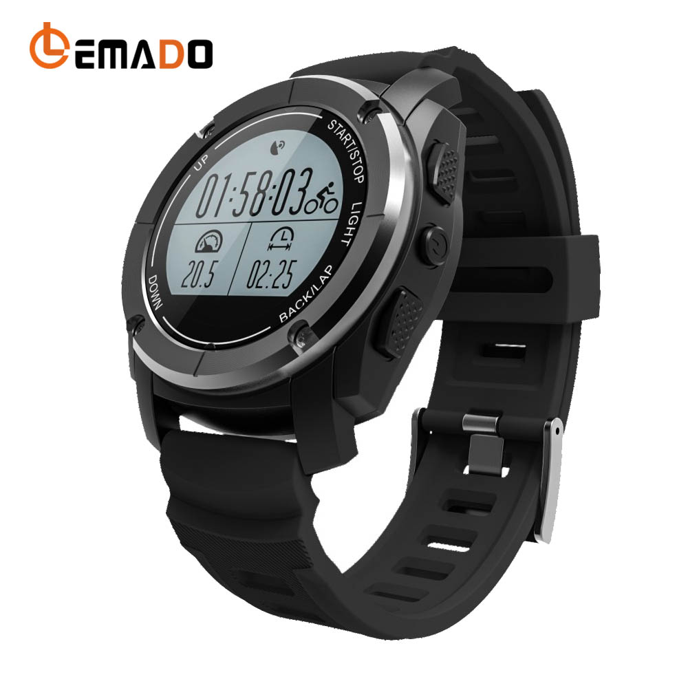 Lemado Q928 Outdoor Inteligente Watch GPS Outdoor Record Track Heart Rate & Calorie Monitor Wearable Devices For Android & IOS multifunction pulse heart rate calorie wrist watch silver black