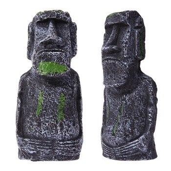 Aquarium Easter Island Statue Decoration