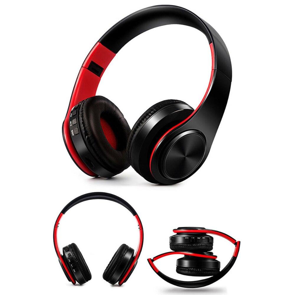 JRGK Stereo Handsfree Headfone Audio Headphones Bluetooth Collapsible Headset Wireless Headphone for Computer PC Aux Head Phone