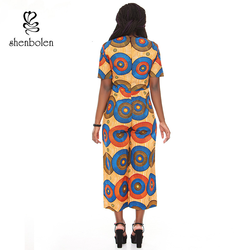 4bed53b3b713 African clothing for women Jumpsuits ankara wax printing fabric pure ...