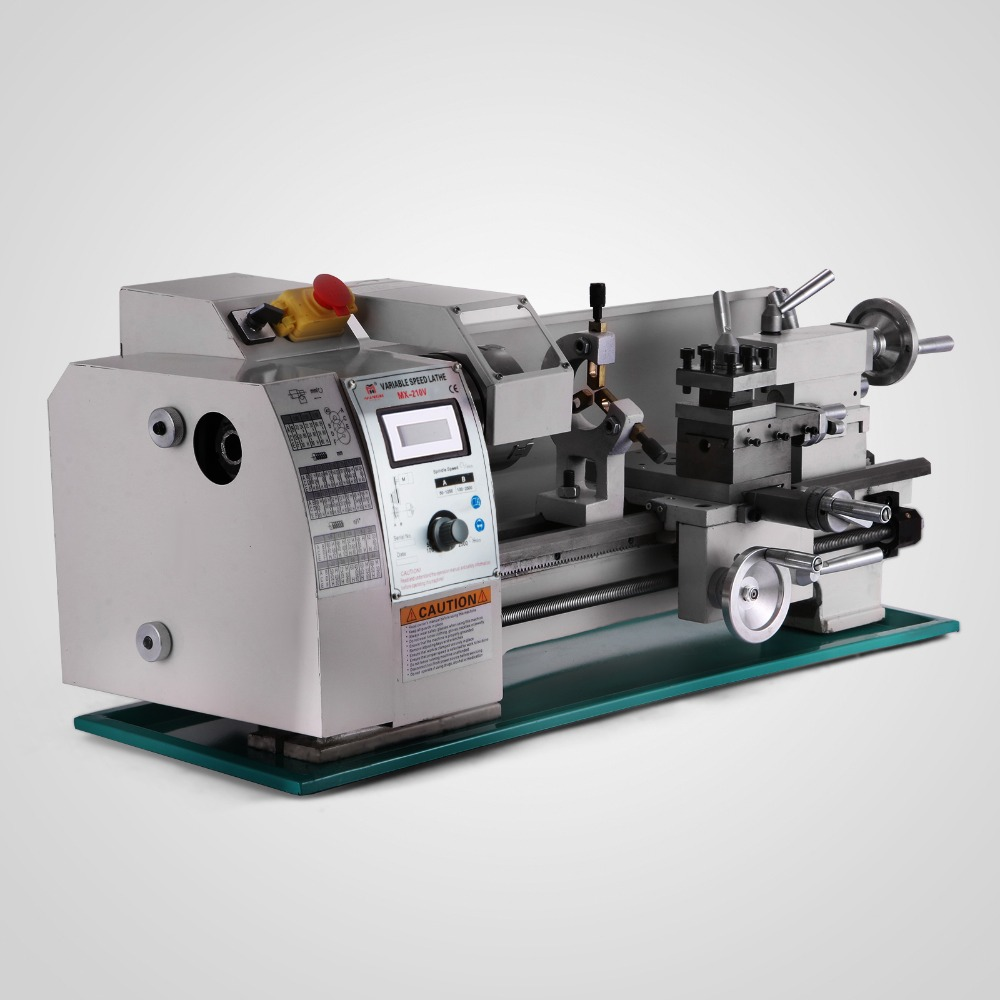 """220V 750W Precision 8"""" x 16"""" Variable-Speed Lathe Variable-Speed Spindle With High and Low Speed"""