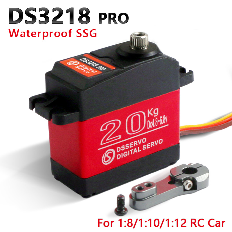Image 3 - 4 pcs rc servo 20KG DS3218 or PRO digital servo baja servo high torque and speed 0.09S metal gear for 1/8 1/10 Scale RC Cars-in Parts & Accessories from Toys & Hobbies
