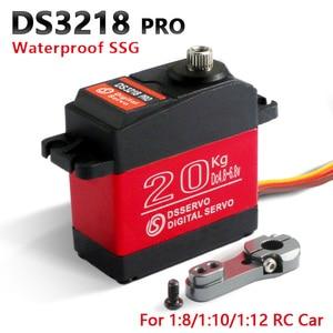 Image 3 - 4 pcs rc servo 20KG DS3218 or PRO digital servo baja servo high torque and speed 0.09S metal gear for 1/8 1/10 Scale RC Cars