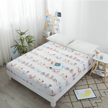 Fashion cartoon soft microfiber fabric fitted sheet mattress cover with elastic rubber band bed sheet twin full queen king size
