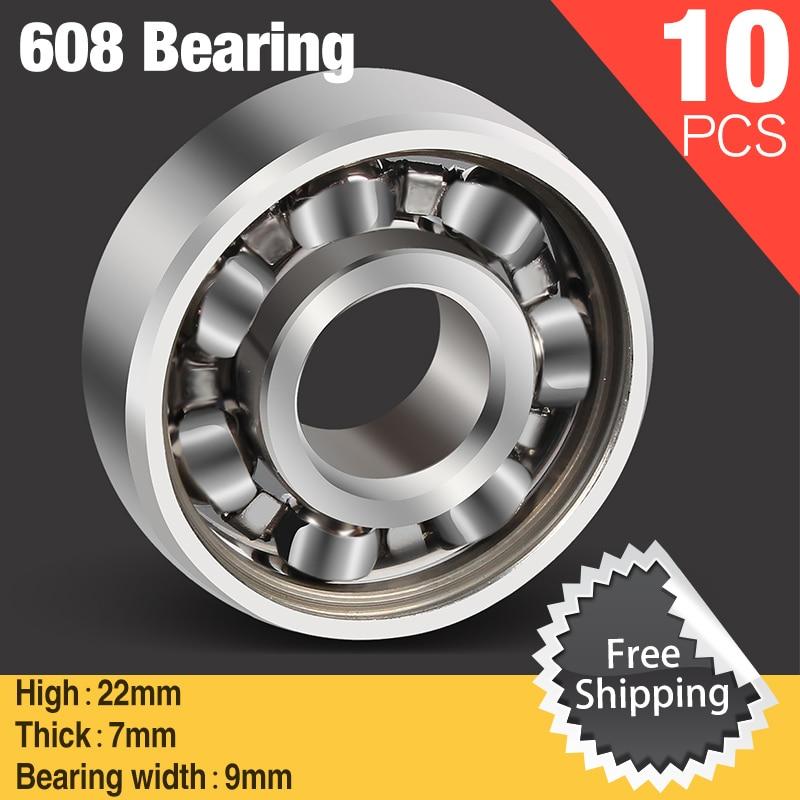 10pcs Bering Steel Bearing 608 Bearing Spinner Bearings For DIY Fidget Spinner Hand Spiner Aluminium Figit Spinning bering bering 11422 742