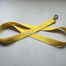 5 шт./лот пустой полиэстер желтый средства ухода за кожей Шеи Ремешок для ID для пропуска или сотового телефона нашейные ремешки 0,7 мм толщиной с/Омар застежка