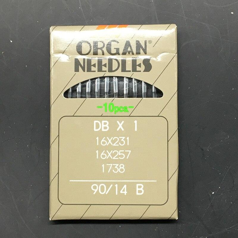 2Pack DB * 1 Japonija ORGAN pramoninės siuvimo mašinos adatos JUKI DDL-555 SINGER BROTHER dydis # 14