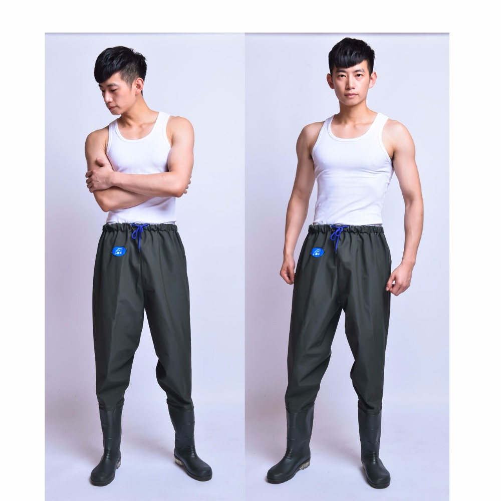 Outdoor Fishing waders waterproof fishing trousers wader fishing pants boots rubber boots waterpants fishing clothing 39 45 size pvc fishing waders footwear for fishing trango breathable rubber boots overalls waterproof fishing shoes fo22
