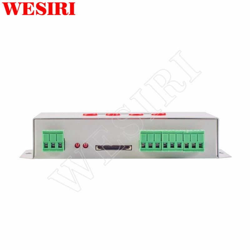K-1000C светодиодный Пиксели программный контроллер (T-1000S обновленный) 2048 Пиксели DC5V-24V для WS2812B WS2811 APA102 SK6812 WS2801 Светодиодные ленты