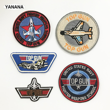 Top Gun NAVY air force Badge Patches for Clothing DIY Stripes Applique Clothes Stickers Iron on Creative Badges Parches russia logo letter embroidered patches for clothing diy stripes applique clothes stickers iron on creative badges biker parches