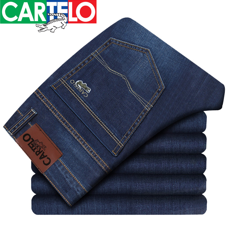 Cartelo/brand New Summer Autumn Thick Jean Brand Clothing Male Jeans Men Fashion Casual Trousers For Male Free Shipping