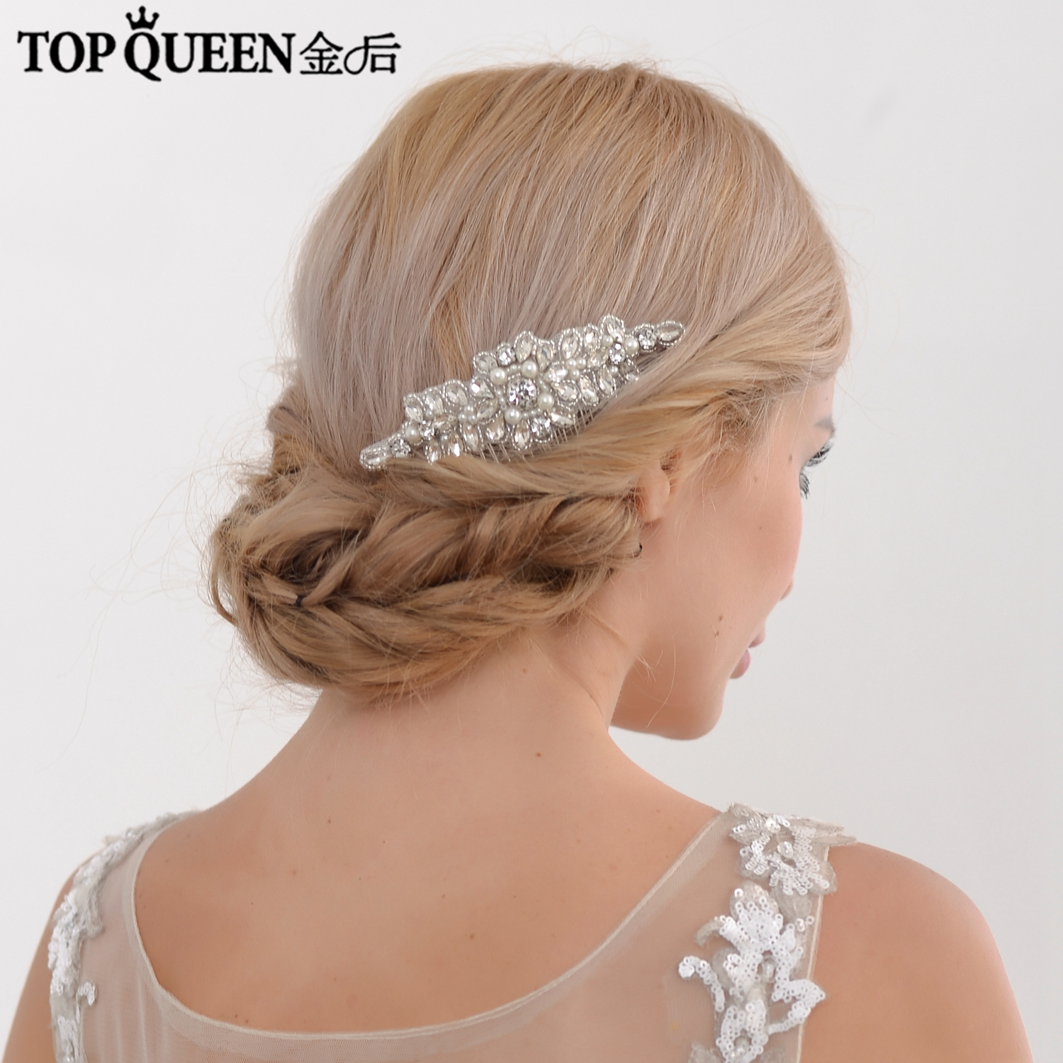 TOPQUEEN H270 Fashion Diamond Headbands Hair Accessories Comb Hairdress With Crystal Bridal Comb Wedding Bridal Headbands