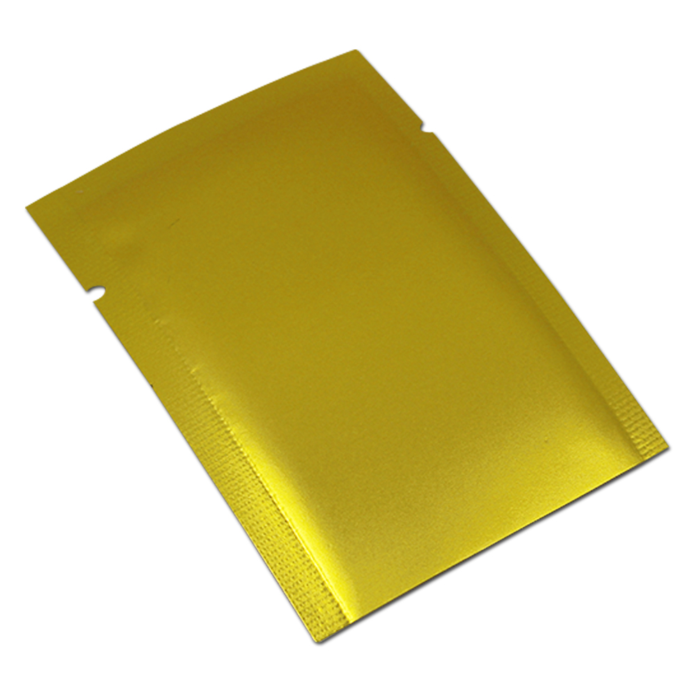 Frosted Golden Mylar Foil Bags Open Top Design Heat Sealed Vacuum Package Bags Dried Fruit Flower Storage Bags Moisture Proof