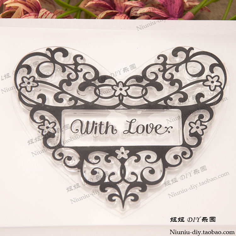 LOVE HEART Pattern Transparent Clear Stamp Seal For DIY Paper Craft Photo Album Card Scrapbooking Hand Account Decoration about lovely baby design transparent clear silicone stamp seal for diy scrapbooking photo album clear stamp paper craft cl 052
