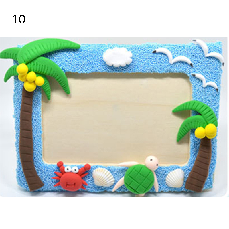 2017 Frame Light Clay Craft Kits Easy Crafts EVA Sticky Animal Photo ...