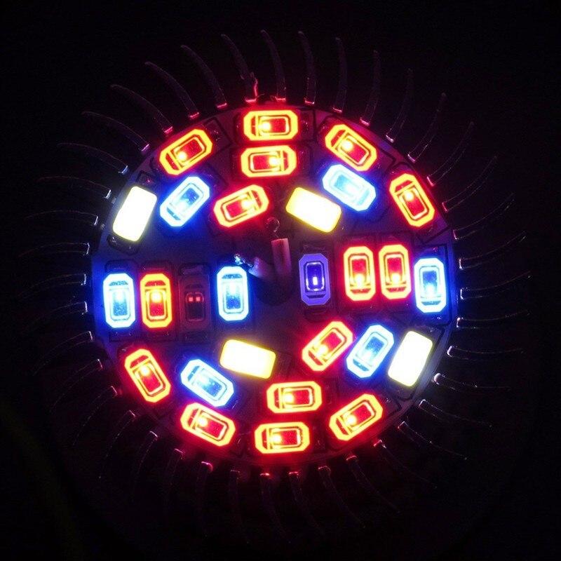 5 pçs espectro completo crescer lâmpada e27