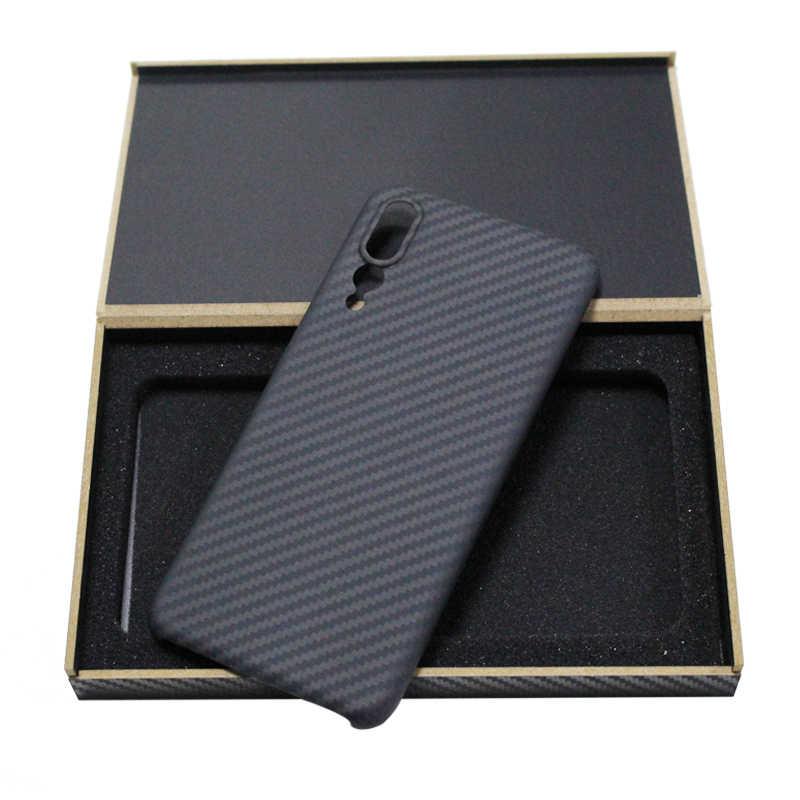 Funda de teléfono móvil ultrafina de fibra de carbono pura para Huawei P10 20 30 plus Mate 10 20 pro funda de teléfono de negocios duro X RS