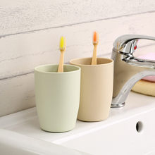 Eco-friendly Bathroom Sets Japanese-style Thick Circular Cups Toothbrush Holder Cup PP Rinsing Cup Wash Tooth Mug 1PCS(China)