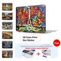"""Eiffel Tower Canvas Prints Matte Hard Cover Case For Apple Macbook Air 11"""" 12'' 13"""" Pro 13"""" 15"""" Pro Retina 13"""" 15"""" Laptop Case"""