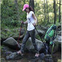 4 SectionsUltralight Telescopic Walking Stick Aluminum Alloy adjustable Trekking Alpenstock Climbing Hiking Pole Canes 50-110cm