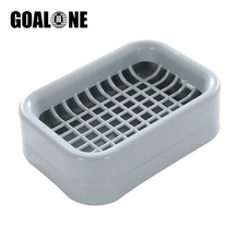 GOALONE Portable Soap Box with Double Layer Drainer Plastic Travel Bathroom Dish Saver Home Decoration Accessories