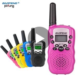 Image 1 - 2 sztuk Baofeng BF T3 Mini dzieci Walkie Talkie Way CB Ham Radio UHF stacja Transceiver Boafeng PMR 446 PMR446 skaner przenośny