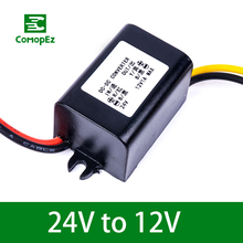 цена на DC DC Converter 24V to 12V 1A 1.5A 2A 3A 5A Step Down Buck Module IP68 Voltage Reducer Car Power Supply for Golf Carts
