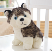 small cute plush dog toy creative mini husky dog doll gift about  20cm