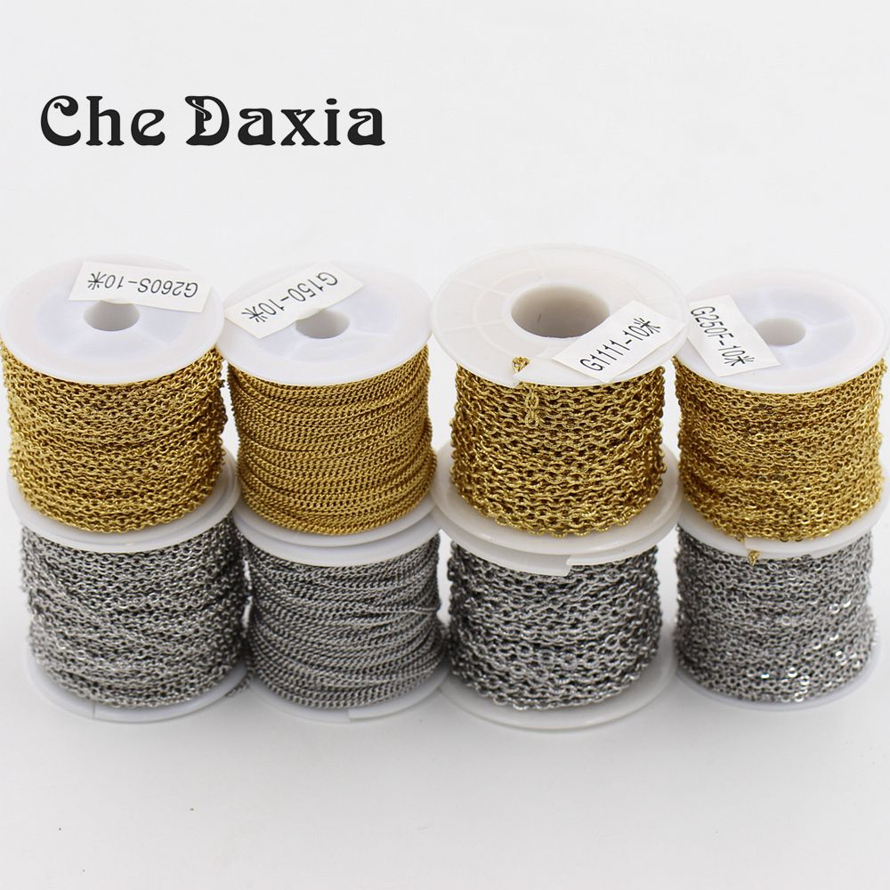 10m/piece DIY necklace Jewelry accessories stainless steel link chains