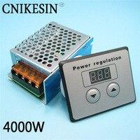 4000W SCR High Power 220W Electronic Digital Voltage Regulator Digital Control Dimming Speed Regulation Temperature Control