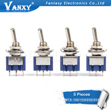 5 Pcs MTS-102 MTS-103 MTS-202 MTS-203 6A 125V Mini 3/6PIN On-Off/On-Off -Di Toggle Switch untuk Beralih Lampu Motor(China)