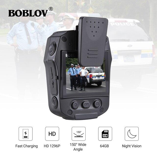BOBLOV PD50 מלא HD 1296P גוף מצלמה משטרת IR ראיית לילה מיני לנטנה policial וידאו מקליט Dvr WDR אבטחת כיס לנטנה