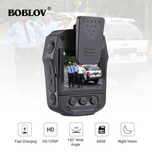 BOBLOV PD50 HD1296P IR Night Vision Police Body Camera Recorder DVR WDR 32MP Security Video Recorder 32GB/64GB/GPS Optional