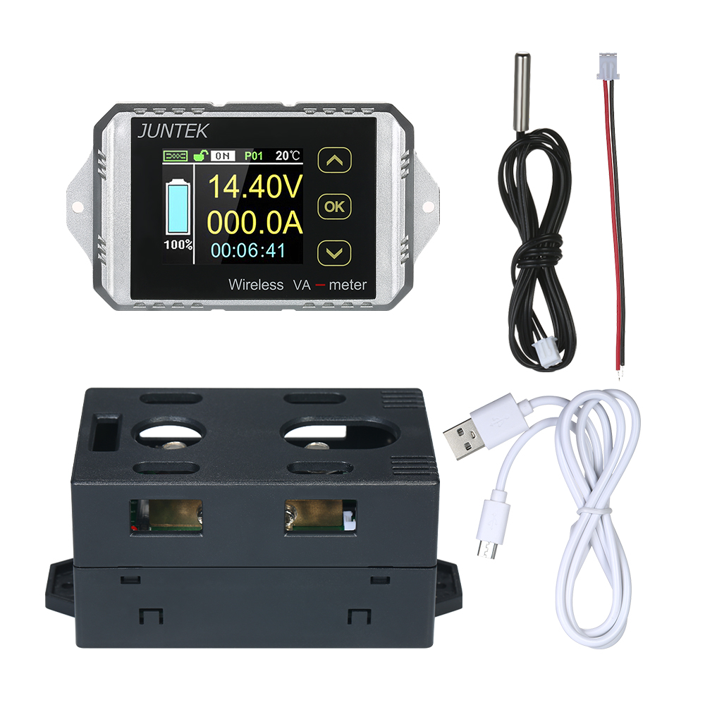 JUNTEK DC 0 01 100V 0 01 100A Multifunctional Wireless Digital Bi directional Voltage Current Power
