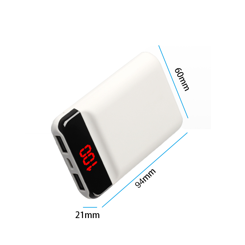 Power Bank 12000mah Mini External Battery Charger with LCD Display Fast Charging Powerbank For iPhone XS X Samsung Smartphones in Power Bank from Cellphones Telecommunications