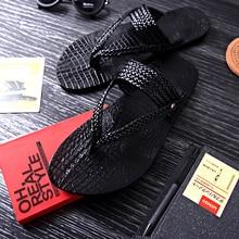 Новинка; Лидер продаж года; летние пляжные вьетнамки; плетеные мужские сандалии на плоской подошве; Большой размер; европейский размер 46