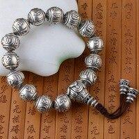 Kaiser Gold Schmuck Linie Thai Silber Armband Archaize Stil Sechs Wörter Paar Armband Geschenk