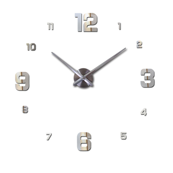 New Wall Clock Clocks Watch Horloge Murale Diy 3d Acrylic Mirror sticker Large Home Quartz Circular Needle Modern Free Shipping 7